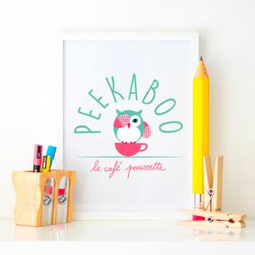 Création logo et identité visuelle Peekaboo –  Graphiste Île de la réunion