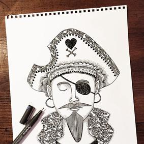 Illustrations noir et blanc – Graphiste logo La Réunion