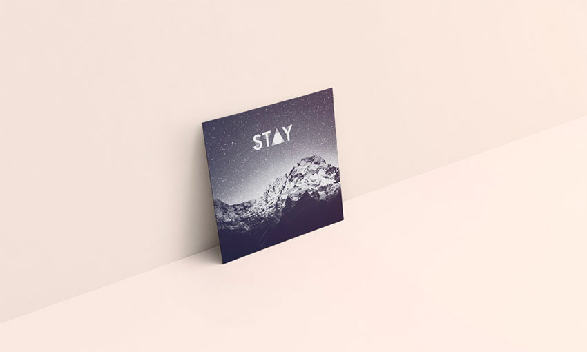 Visuelle pochette vinyl Stay - Graphiste freelance la Réunion