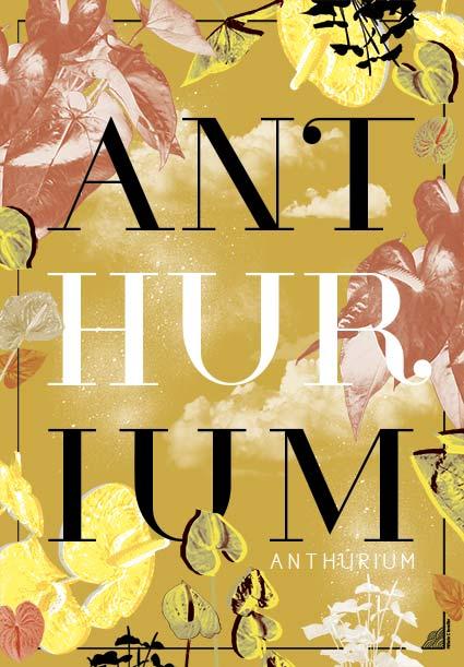 Affiche Anthurium Jaune - Design Graphique Réunion