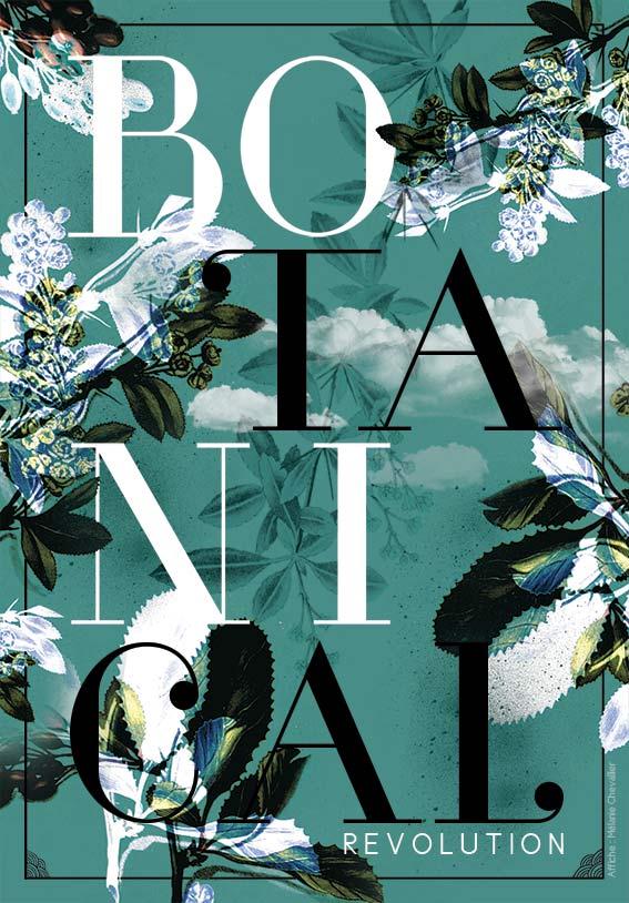 Affiche Exposition Botanical Revolution - Design Graphique Réunion