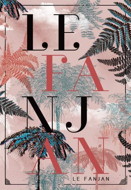 Affiche Fanjan Rose - Design Graphique Réunion