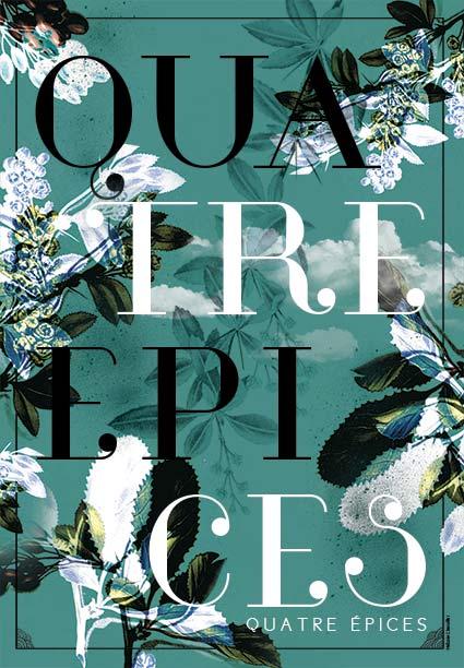 Affiche Quatre Épices bleu - Design Graphique Réunion