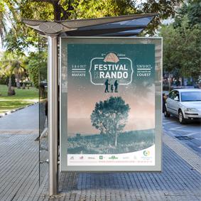 Affiche Festival de la rando, graphiste île de la Réunion