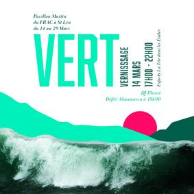 Création Affiche Exposition VERT – Graphiste île de La Réunion